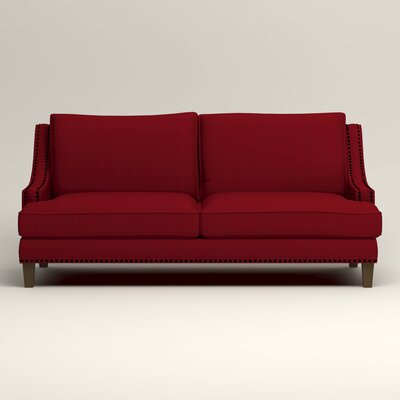Larson Sofa with Toss Pillows Upholstery: Bayou Flame