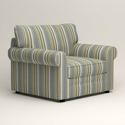 Newton Side Chair Color: Theron Naval Stripe