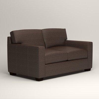 Pratt Leather Loveseat Upholstery: Steamboat Driftwood