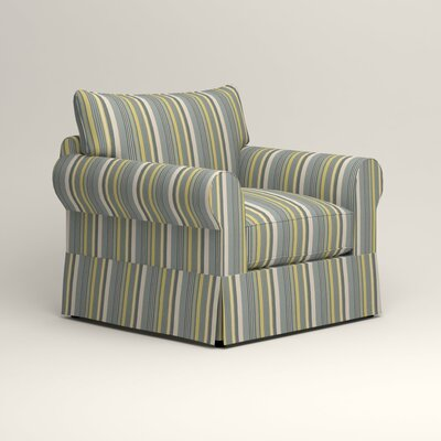 Jameson Chair Fabric: Theron Naval Stripe