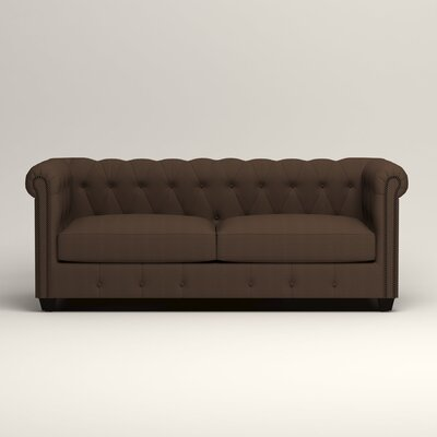 Hawthorn Chesterfield Sofa Upholstery: Bayou Coffee