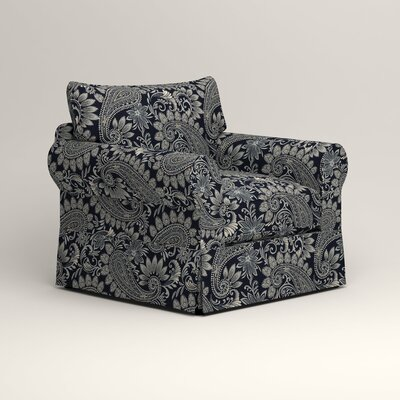 Jameson Chair Fabric: Wallace Midnight Paisley