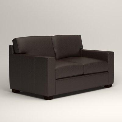 Pratt Leather Loveseat Upholstery: Vintage Flint