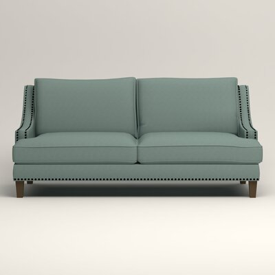 Larson Sofa with Toss Pillows Upholstery: Hilo Turquoise