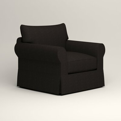 Jameson Chair Fabric: Bryant Ebony Textured Slub