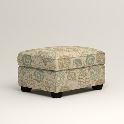 Clarkedale Ottoman Upholstery: Okeefe Seabreeze