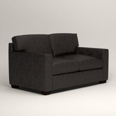 Pratt Leather Loveseat Upholstery: Liberty Espresso