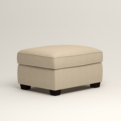 Clarkedale Ottoman Upholstery: Hilo Flax