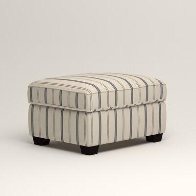 Clarkedale Ottoman Upholstery: Mcallister Indigo