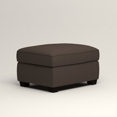 Clarkedale Ottoman Upholstery: Microsuede Charcoal