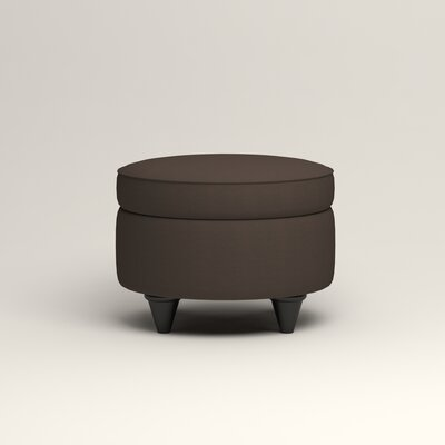 Olivet Storage Ottoman Upholstery: Microsuede Charcoal