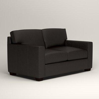 Pratt Leather Loveseat Upholstery: Java Leather