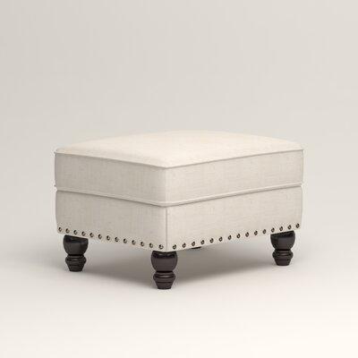 Landry Ottoman Upholstery: Talc Basketweave