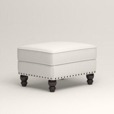 Landry Ottoman Upholstery: Classic Bleach White
