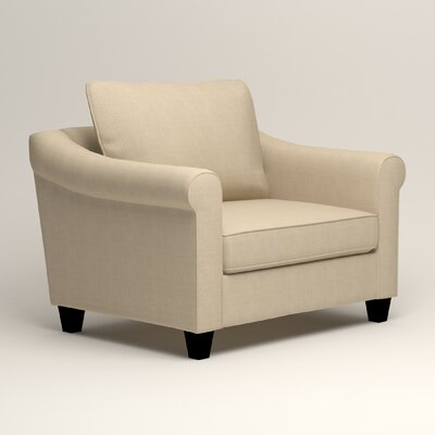Brooke Armchair Upholstery: Hilo Flax