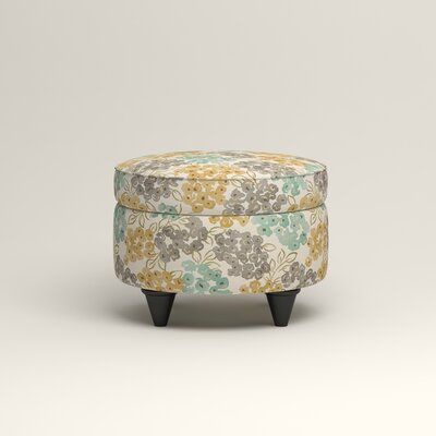 Olivet Storage Ottoman Upholstery: Wilmer Blooming Pool