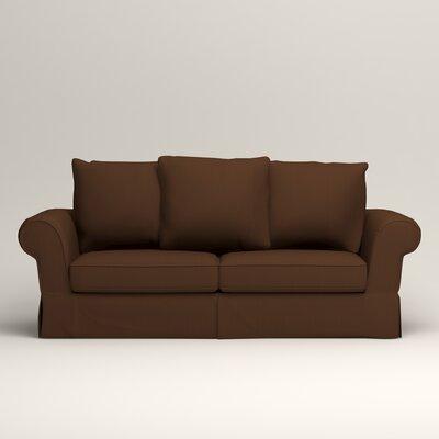 Owen Sofa Upholstery: Microsuede Chocolate