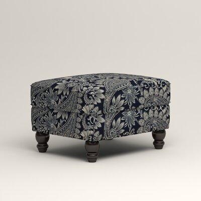 Landry Ottoman Upholstery: Wallace Midnight Paisley
