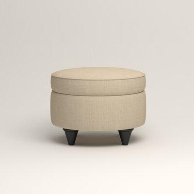 Olivet Storage Ottoman Upholstery: Bryant Oatmeal Textured Slub