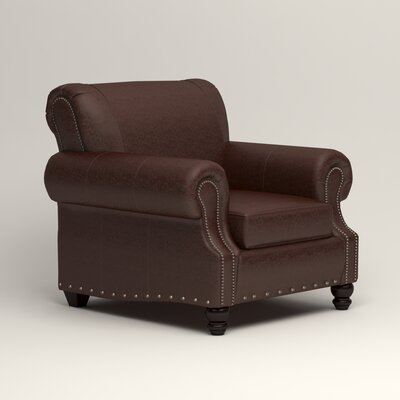 Landry Club Chair Upholstery: Mahogany Leather