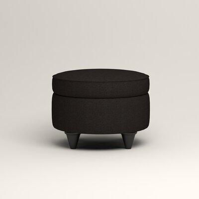 Olivet Storage Ottoman Upholstery: Bryant Ebony Textured Slub