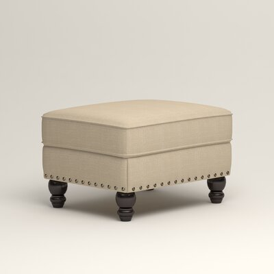Landry Ottoman Upholstery: Bryant Oatmeal Textured Slub