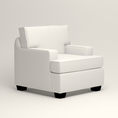 Clarkedale Armchair Upholstery: Classic Bleach White