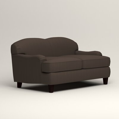 Cheshire Loveseat Upholstery: Microsuede Charcoal