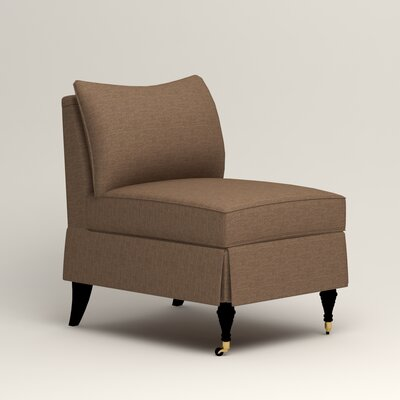 Kendall Slipper Chair Color: Bailey Mushroom Blended Linen