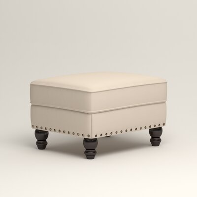 Landry Ottoman Upholstery: Microsuede Oyster