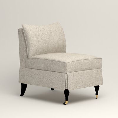 Kendall Slipper Chair Color: Stewart Paisley Linen