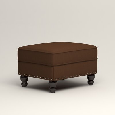 Landry Ottoman Upholstery: Microsuede Chocolate