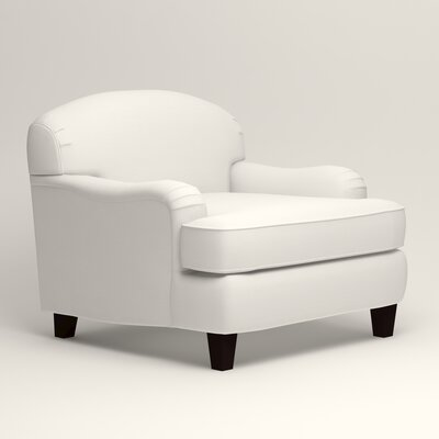 Cheshire Club Chair and a half Upholstery: Classic Bleach White