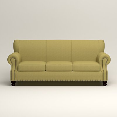 Landry Sofa Upholstery: Bailey Avocado Blended Linen