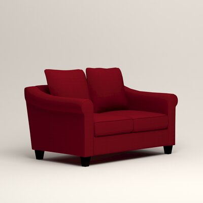 Brooke Loveseat Upholstery: Bayou Flame