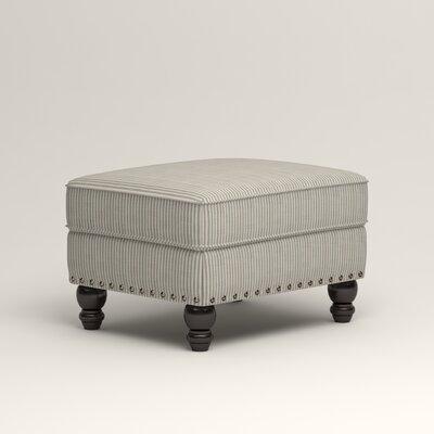 Landry Ottoman Upholstery: Douglas Harbor Stripe