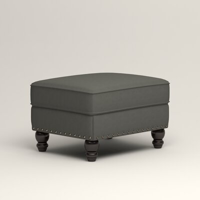 Landry Ottoman Upholstery: Microsuede Charcoal