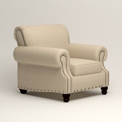 Landry Armchair Upholstery: Hilo Flax