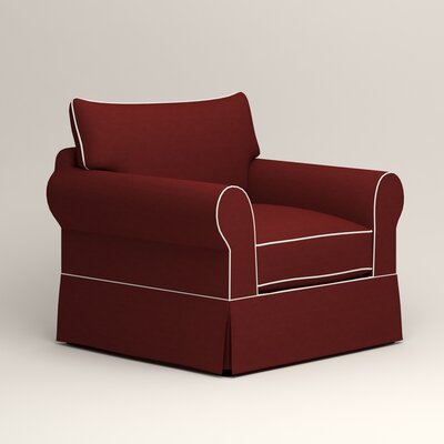 Jameson Chair with Contrast Welt Color: Griffin Currant Twill