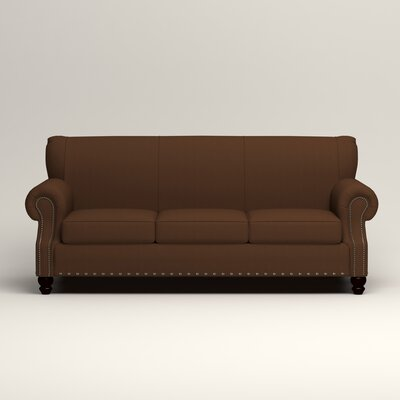 Landry Sofa Upholstery: Microsuede Chocolate