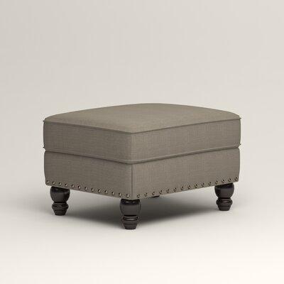 Landry Ottoman Upholstery: Bryant Slate Textured Slub