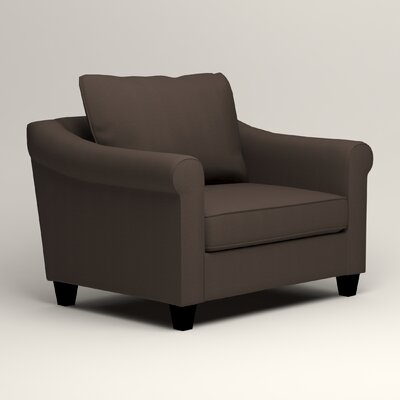 Brooke Armchair Upholstery: Microsuede Charcoal