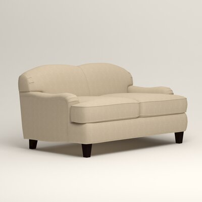 Cheshire Loveseat Upholstery: Hilo Flax