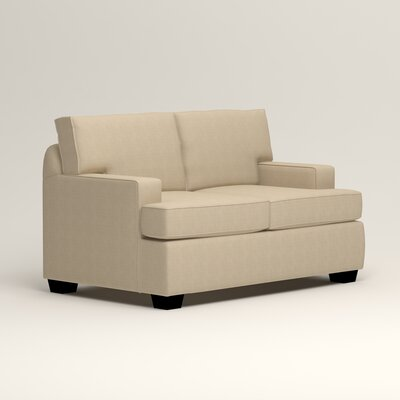 Clarkedale Loveseat Upholstery: Hilo Flax