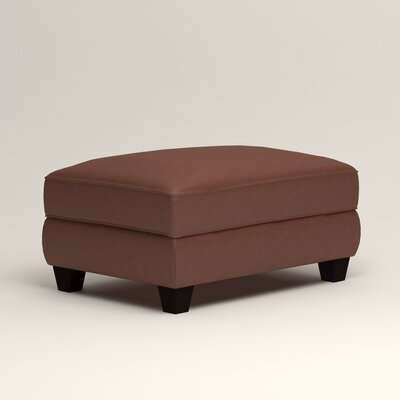 Hawthorn Leather Ottoman Upholstery: Steamboat Chestnut