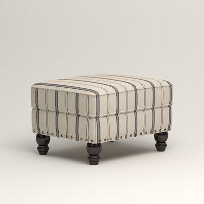 Landry Ottoman Upholstery: Mcallister Indigo