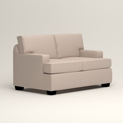 Clarkedale Loveseat Upholstery: Lizzy Linen