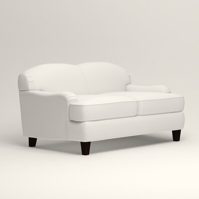 Cheshire Loveseat Upholstery: Classic Bleach White