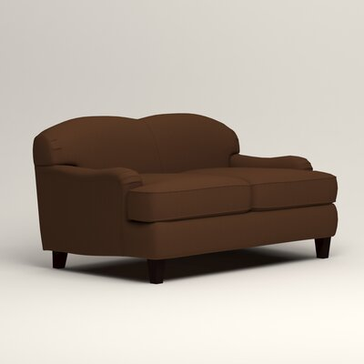 Cheshire Loveseat Upholstery: Microsuede Chocolate