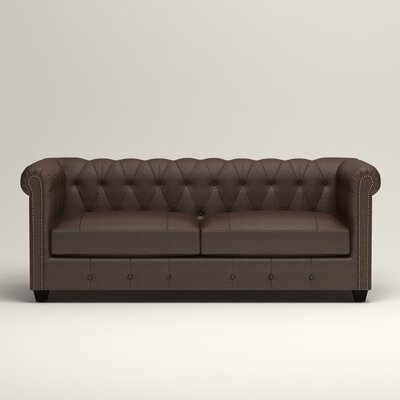 Hawthorn Leather Chesterfield Sofa Upholstery: Steamboat Driftwood